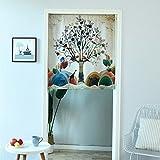 GneatFun Blume Baum Tür Fenster Zimmer Sheer Vorhang Tuch 1Panel Schal Volants Breit Breite Gaze Vorhang Wohnzimmern decorative31.50* 100cm, Single Panel