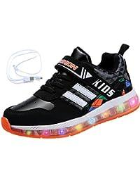Mr.Ang Unisex Niños USB Carga LED Luz Luminosas Flash Zapatos Zapatillas de Deporte para Los Reyes Magos