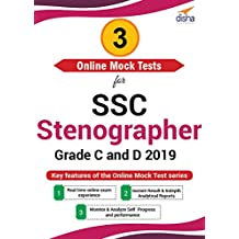 Disha Publication 3 Online Mock Test Series for SSC Stenographer Grade C and D 2019 (Email Delivery in 2 Hours - No CD)