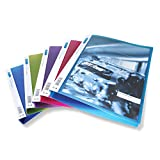 Rapesco 0718 4 Loch-Präsentations Ringordner mit Hülle auf der Vorderseite Polypropylen A4, 25 mm, transparente farben, 10er Packung