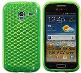 Luxburg Diamond Design custodia Cover per Samsung Galaxy Ace 2 GT-I8160 colore verde smeraldo, custodia in silicone TPU