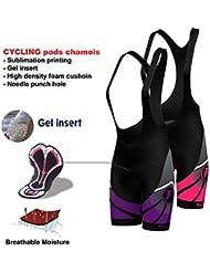 FDX - Cuissard de cyclisme pour femme - Rembourrage Gel 3D
