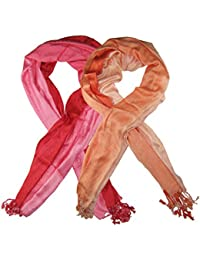 Goodluck Cotton Scarf Set Of Two Mullticoloured Stoles; Scarf And Stoles For Women … - B06WP4RT8H