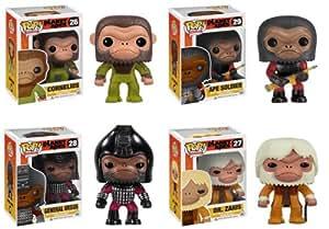 Funko Pop Funko Planet of the Apes Set of 4: Cornelius, Dr. Zaius, General Ursus & an Ape Soldier