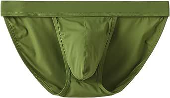 YuKaiChen Men's Underwear Briefs Soft Microfibre Silky Slips Underpants Low Rise Wide Waistband Multipack
