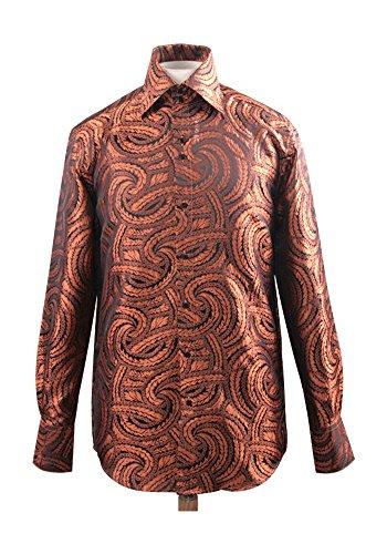 Men's Fashion Forward Formal Shirt Rust