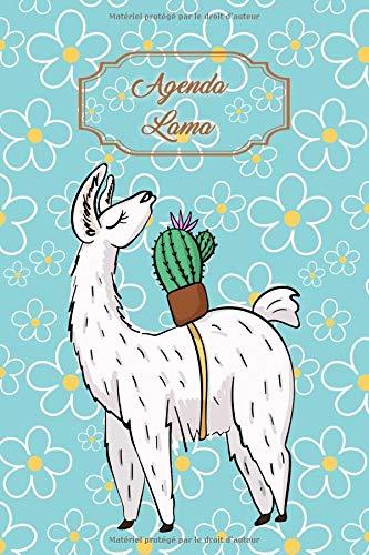 Agenda Lama: Agenda perpétuel avec couverture et intérieur Lama - 56 semaines avec des pages supplémentaires à découvrir (15 x 23 cm)