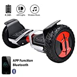 "EVERCROSS Hoverboard Phantom 10"" Skateboard Éléctrique Batterie Samsung Smart Scooter Contrastes Couleurs Gyropode Auto-équilibrage avec Bluetooth de Boutique GyroGeek (Noir)"