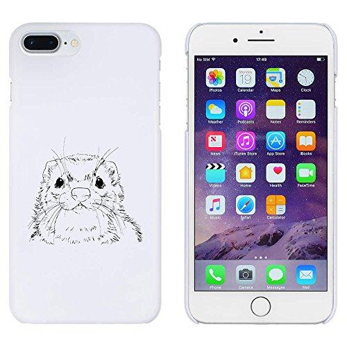 Azeeda Weiß 'Frettchengesicht' Hülle für iPhone 7 Plus (MC00168377)