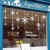 Tuopuda Pegatinas de Navidad Decoracion Fiesta extraíbles Adorable Papá Noel Nieve Alce Colores Pegatina de Pared Etiqueta engomada de Cristal (C)
