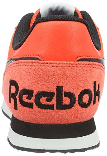 Reebok Royal Classic Jogging 2RS, Baskets Basses Femme Orange (Atomic Red/Black/White)
