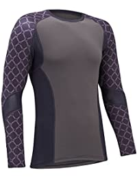 Tenn Mens Sublimated L/S Sports Compression Second Skin High Wicking Cycling Base Layer
