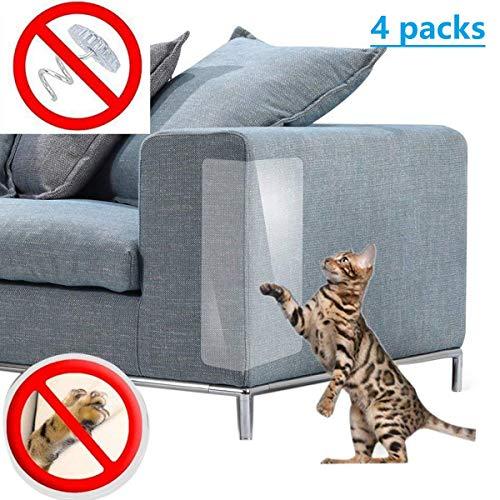 BOEHNER Protezione per mobili per Gatti, per poltrone e sedie in Pelle, Anti-graffio (Confezione da 4)