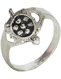 Mens Fashion Jewellery Fancy Silver::Black Turtle Fashion Ring