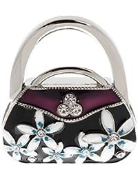 Switty plegable del bolso del gancho del monedero del bolso de colgar titular Tabla-Forma (púrpura)