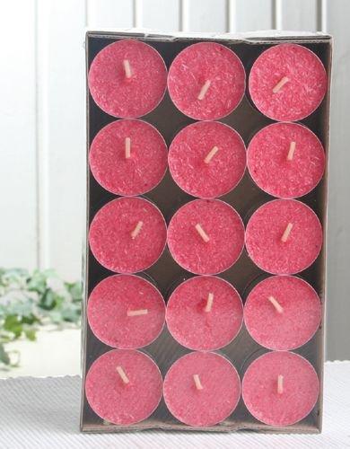 30er-Packung Bio-Teelichter / Stearin-Teelichter, rot