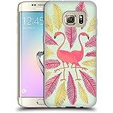 Officiel Cat Coquillette Flamants Or Rose Oiseaux Étui Coque en Gel molle pour Samsung Galaxy S7 edge