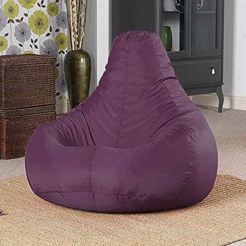 Designer Recliner Gaming Bean Bag Mulberry Purple - Indoor & Outdoor Beanbag Chair (Water Resistant) by Bean Bag