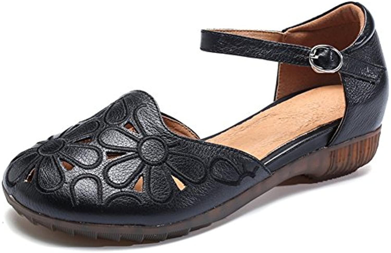 Sandalias de Las Mujeres Cuña Hebilla Hebilla Zapatos al Aire Libre Zapatos de Moda de Verano para Caminar Compras de Las Vacaciones 36 EU Verde