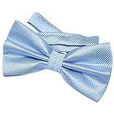 DonDon Pajarita para hombre de 12 x 6 cm ajustable y lista para usar - Azul claro