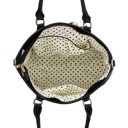 Trendstar Damen Large Tassel Tote Handtasche Designer Taschen Leder Schulter Neue Schwarz