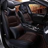 DIELIAN Auto Sitzbezug Auto Sitzkissen 5 Sitze Full Set-Leicht zu reinigen PU Leder , coffee