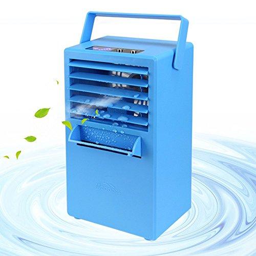 Madoats Mini Tragbarer Mobile Klimaanlage Nebelventilator, 24cm Leiser Persönlicher Tischventilator Kleiner Luftkühler Luftbefeuchter