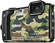 Nikon W300 Waterproof 30m & 16.05 Megapixel Digital Camera(Camouflage) with 16 GB Card & Ca