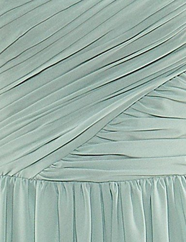 PU&PU Robe Aux femmes Swing Soirée , Couleur Pleine Une Epaule Maxi Polyester DARKPINK-S