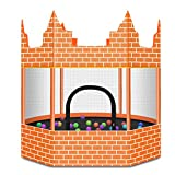 Unbekannt Lxn 60 Zoll Outdoor & Indoor Runde Schloss Trampolin mit Gehäuse net |...