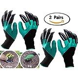 Eiito Garten Handschuhe (Linke Hand und Rechte Hand mit Klauen 2 Paar), gartenhandschuhe pflanz-und...