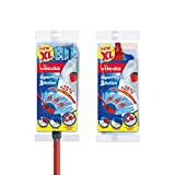 Vileda SuperMocio 3Action XL Mop with Extra Refill, Red/Blue