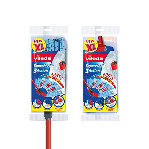 Vileda SuperMocio XL 3 Action Mop with Extra Refill