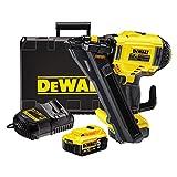 Dewalt - Clavadora de batería, 1pieza, amarillo; negro, dcn693p2de qw