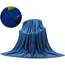 Manta Polar Sofá Cama Cuna Viaje Hipoalergénica para Bebé, 240g/m² Franela Sin Pelusa Antiacara, 160x220cm, Azul Antiguo
