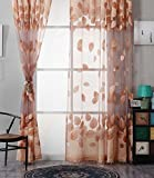 serliy Mode Fenster Vorhänge Einfarbig Fenster Behandlung Panels Tür Drapieren