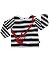 Rockabye-Unisex Baby Guitar Tee shirt Long Sleeve T-Shirt (Black/White)