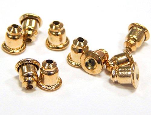 OHRSTOPPER METALL OHRRING VERSCHLUSS OHRSTECKER OHRSCHMUCK OHRMUTTER GOLD M415