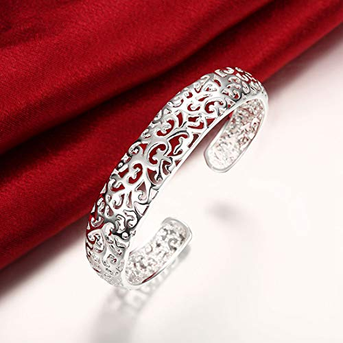 Yellow Chimes Filigree Craft Silver Plated Cuff for Women (YCRMBR-20-SL)