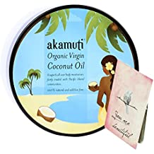 AKAMUTI - Huille de Coco Vierge Bio Pressée à Froid - Nourrissante Apaisante et Douce - Soin des Peaux et Cheveux sèches et abimées