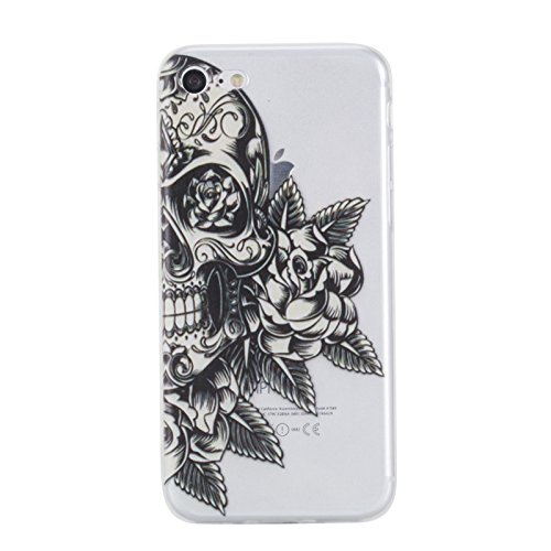 Black Skull Crystal Case (iPhone 7 Hülle (4,7 Zoll),iPhone 7 4.7
