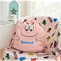 AJBB Cartoon Backpacks, Pink Lovely Pure Cotton Fine Canvas Backpack, Travel Daypack For Girl Backpack