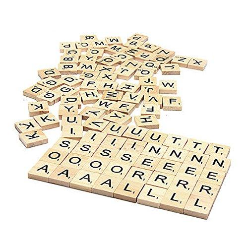 Set von 200 Holzern Scrabble Buchstaben Fliesen für Holz Handarbeiten, Kunst & Handwerk und...