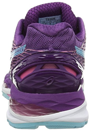 3befc613fc617e Asics Gelnimbus 18 Damen Laufschuhe Violett purple turquoise flamingo 3340