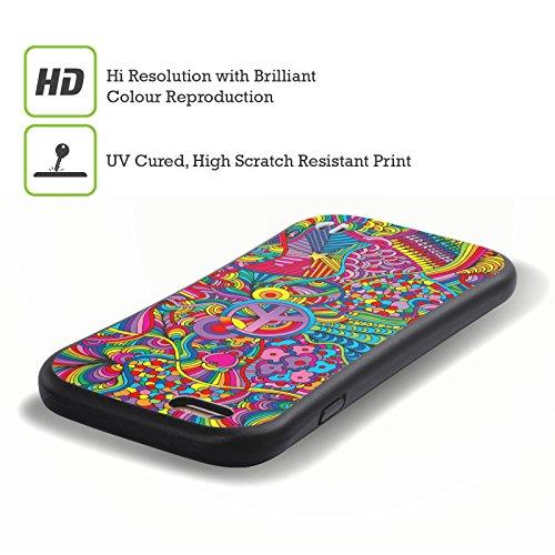 Ufficiale Howie Green Fiori Acqua Pattern Case Ibrida per Apple iPhone 7 / iPhone 8 Segni Di Pace