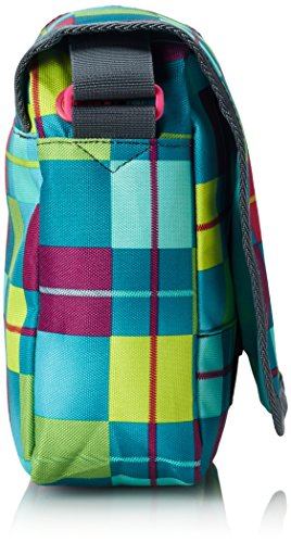 Chiemsee Borsa a tracolla Easy Shoulderbag, 21x 20x 8cm, 5080040, Unisex, Umhängetasche Easy Shoulderbag Plus, Ethno Splash, Taglia unica Karo Blue Caba