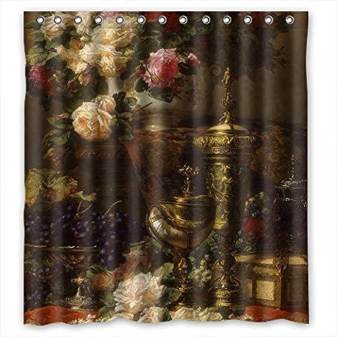 Polyester Bad Vorhänge Classic Still Life Art Malerei für BF Jungen Kinder Jungen Mädchen. Modernes Design Breite x Höhe/167,6x 182,9cm/W H 168von 180cm (Stoff)