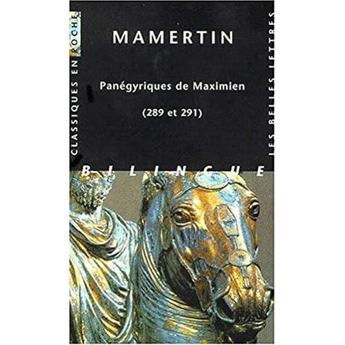 Panégyriques de Maximien (289 et 291)