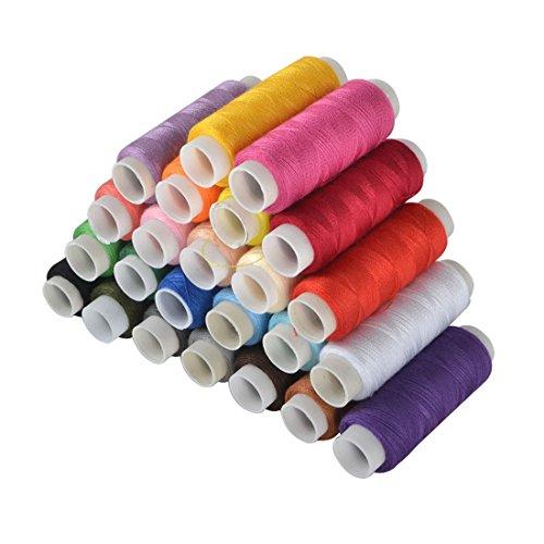 24/39 couleurs assorties bobines Mechine bobines de fil à coudre multiusage filetage à la main Kit de couture, 24 colors