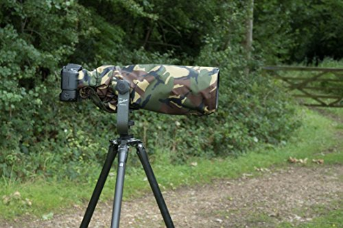 Kamera/Objektiv Regenschutz/Regenhülle für Nikon 200-500 F5.6 E ED VR AF-S Wasserdicht & Transporttasche DPM Tarnung Nylon